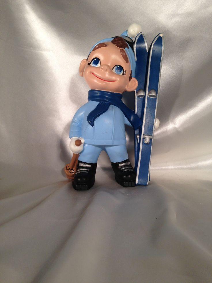 Boy SKI Figure,Ski Boy Figurine,Vintage Art Deco Ceramic Boy Skiing…