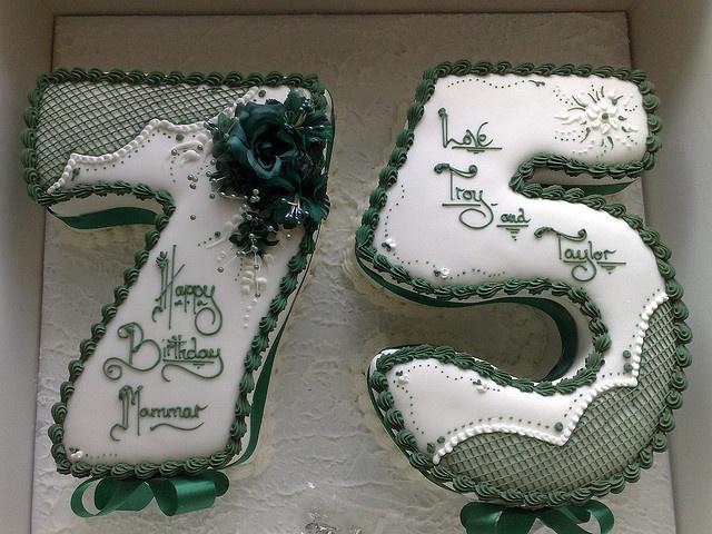 75th Birthday cake by Dean™, via Flickr