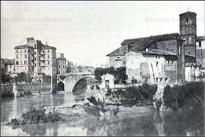 Isola Tiberina vista da est Anno: 1872