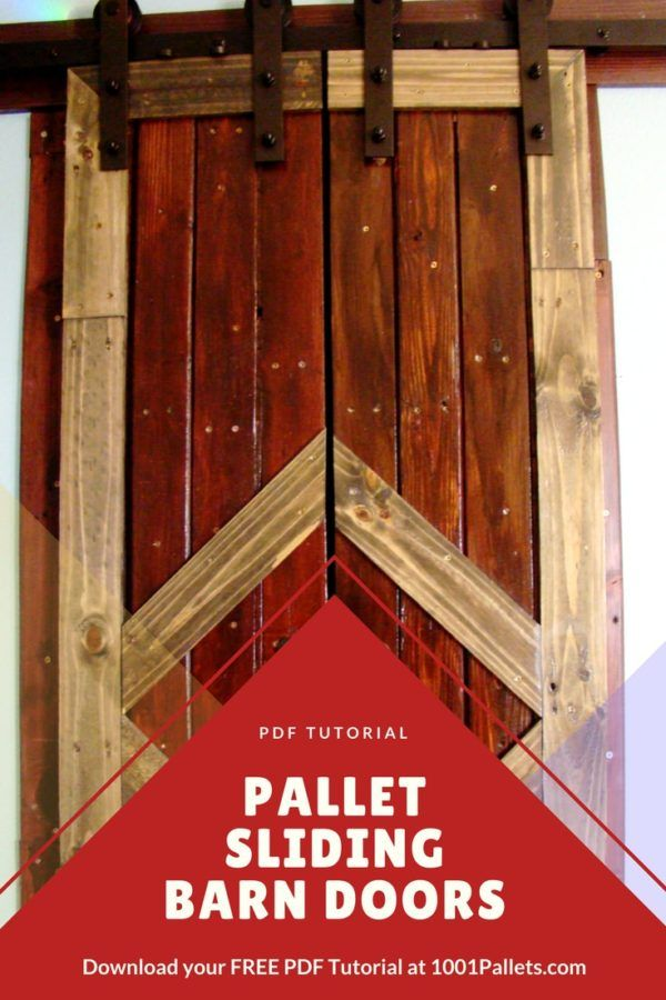 DIY PDF Tutorial Pallet Sliding Barn Doors • 1001 Pallets