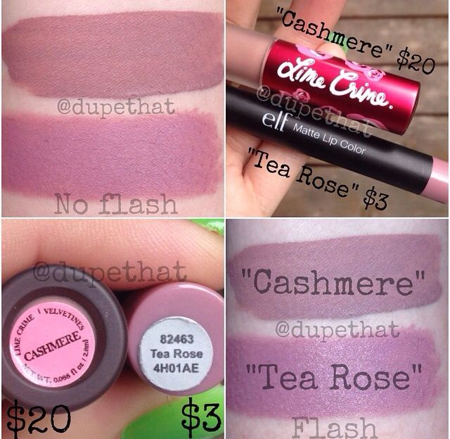 Elf tea rose dupe of limecrime cashmere