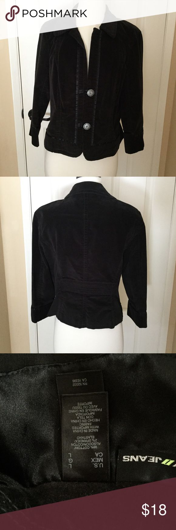 DKNY Black Velvet Jacket Black Velvet large TSS Good condition DKNY Jackets & Coats Blazers