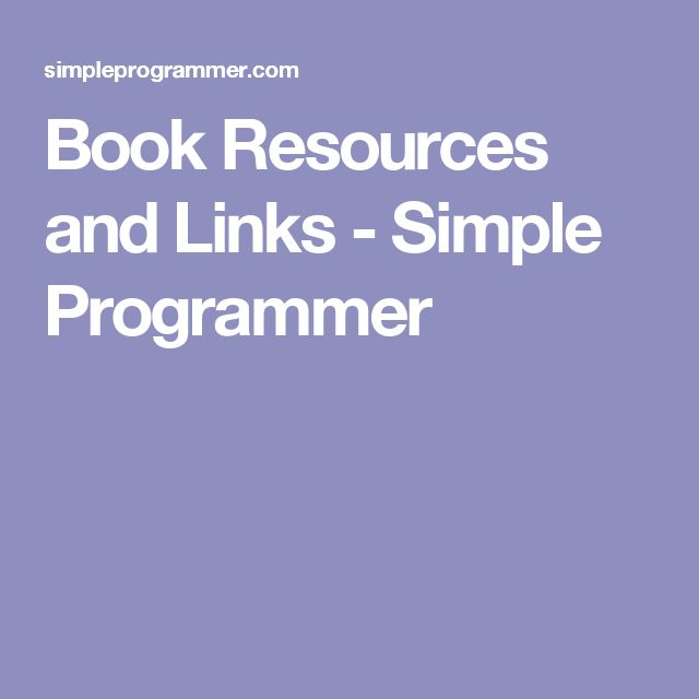 Book Resources and Links - Simple Programmer