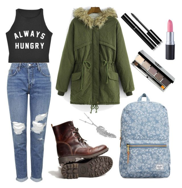 """for cold fall days"" by laura-liisa-kumnik on Polyvore featuring WithChic, Topshop, Herschel Supply Co., Penny Preville, Bobbi Brown Cosmetics and Chanel"