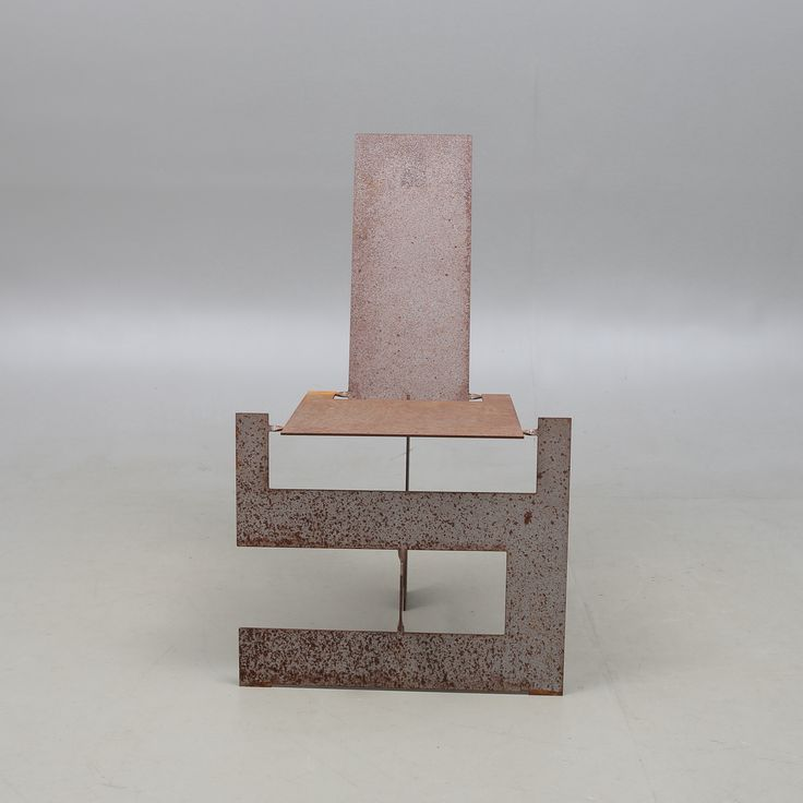 "STOL, stål, efter Ronen Kadushins ""Flatweld Chair"" från Open Designs."