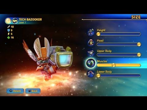 Skylanders Imaginators Tech Bazooker Creation Crystal Gameplay