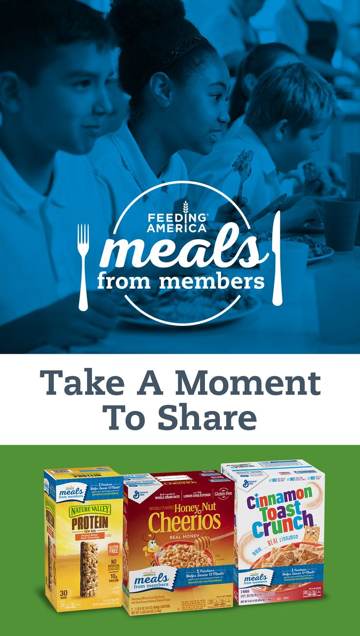 Now it's easy to give back to your community. Help secure 12 meals for your local food bank, just by shopping at Sam's Club. #mealsfrommembers