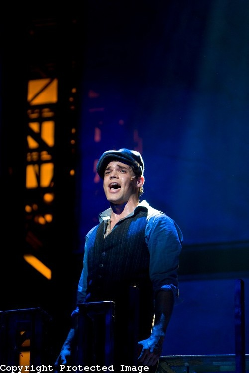 Newsies, the Musical - Jeremy Jordan, belting it out and being awesome.  Tony Award?  I think so!