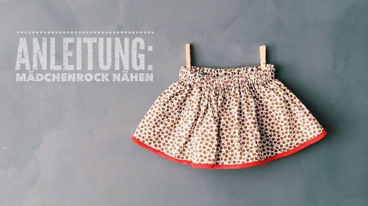 einfachen Mädchenrock selber nähen, Nähanleitung für Anfänger, weiten Rock für den Sommer nähen, Upcycling aus alten Stoffen und T-Shirts, Röcke für Mädchen // von knobz