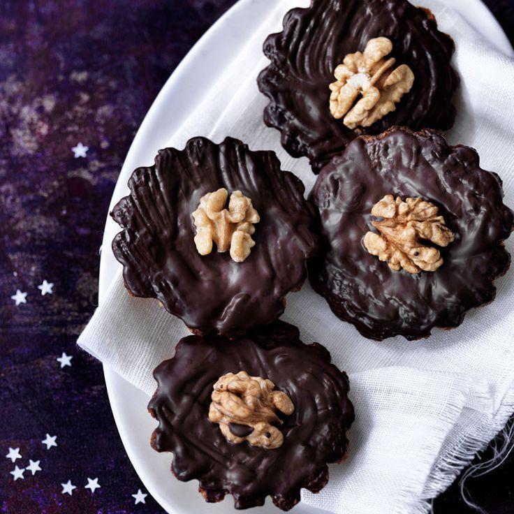 Citronmazariner med choklad och valnötter