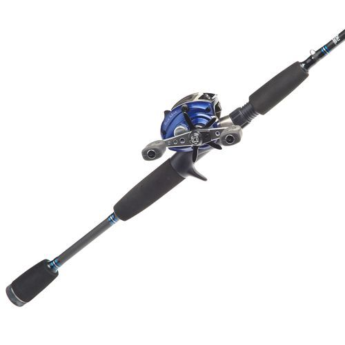 Abu garcia blue max 66 mh freshwater saltwater baitcast for Fishing rod and reel combo
