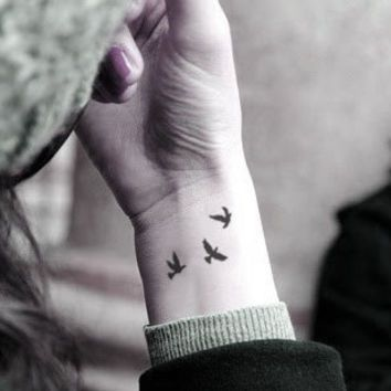 three little birds tattoo on shoulder - Google Search