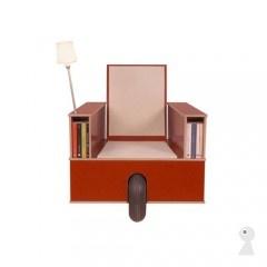 Genialt!! En stol med reol til bøger. stol oppbevaring hylle chair storage shelf
