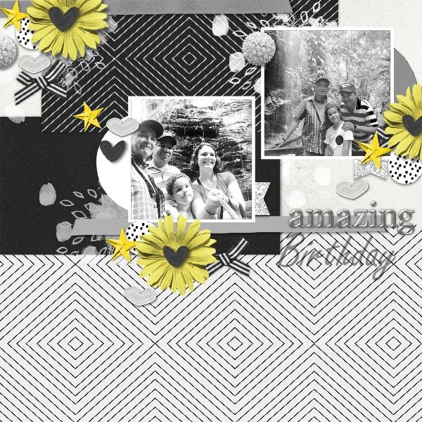 Made with Pixel Scrapper Collab: All the Princessess Bundle and Marisa Lerin's Template Kit #15