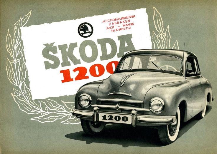 1952 Skoda 1200. #SKODA - Skoda - Škoda Auto
