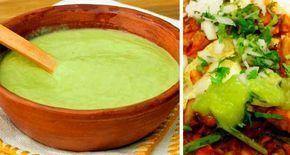 Una exquisita salsa para acompañar a unos buenos tacos, es esta salsa verde cremosa con una consistencia y color similar al guacamole, a diferencia de que ésta no lleva aguacate y tiene un sabor muy especial entre todas las salsas. Esta es una de las favoritas para darle sabor a los tacos al pastor. Ingredientes: 3…