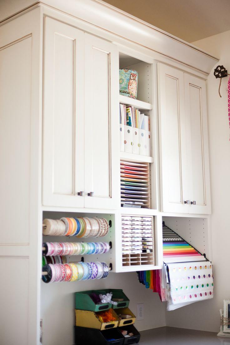 65 best Craft Storage and Organization images on Pinterest   Craft rooms,  Storage ideas and Craft room storage
