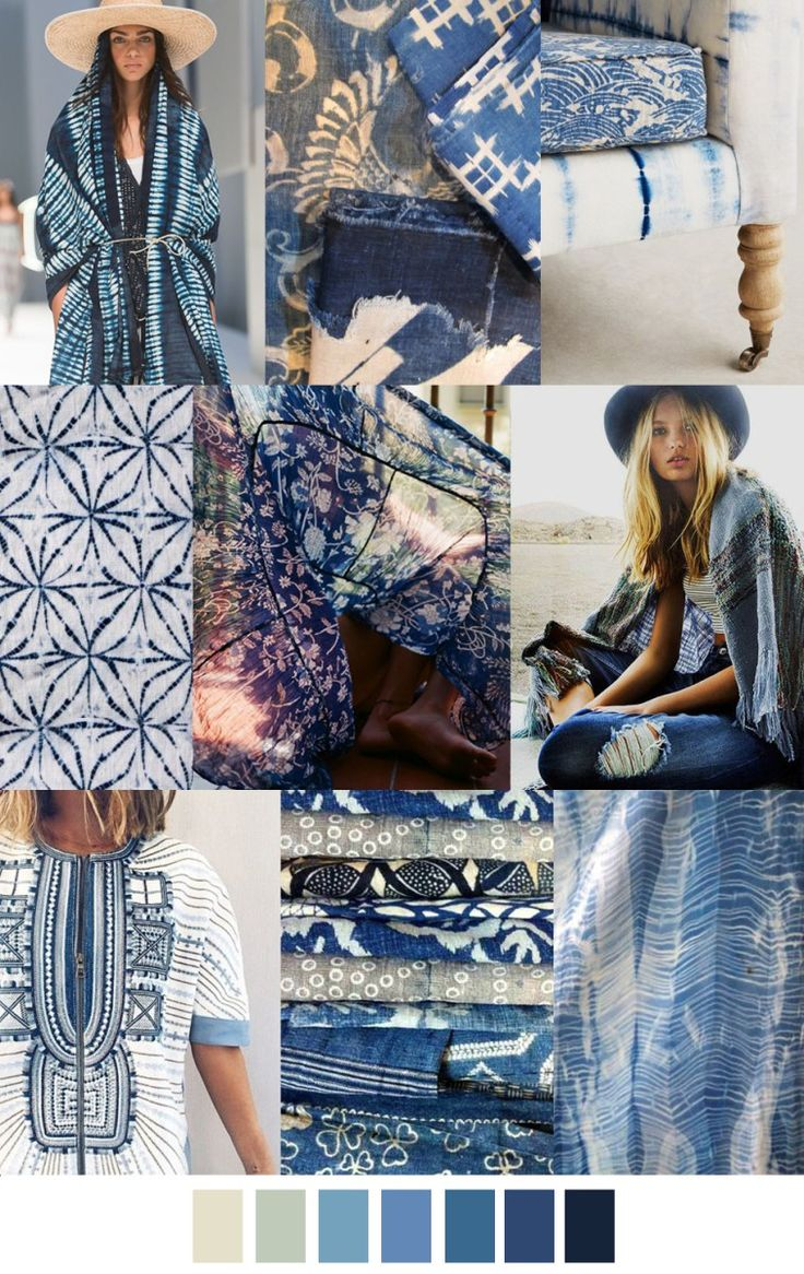 2017 pattern & colors trends: BOHO BLUES