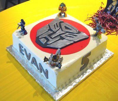 transformer cake (the boys party)