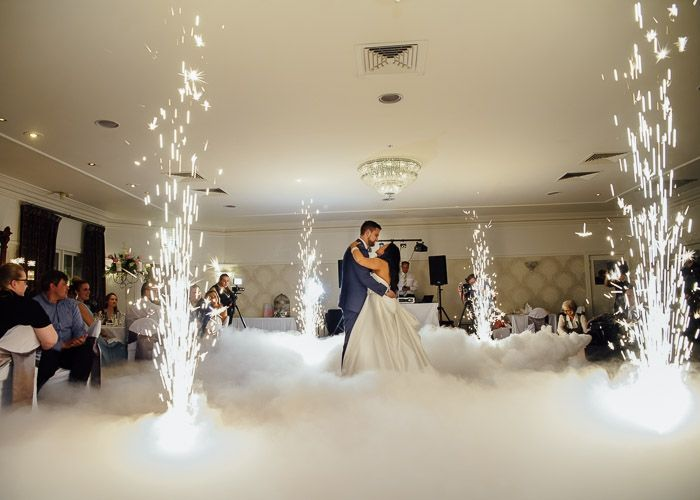 fireworks during first dance at Ballara Receptions #wedding #weddingphotography #melbourne http://www.millgrovephotography.com.au