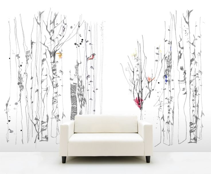 Kheira Linder illustrates wallpaper. Talanted german designer with a mysterious and whimsical approach to nature.