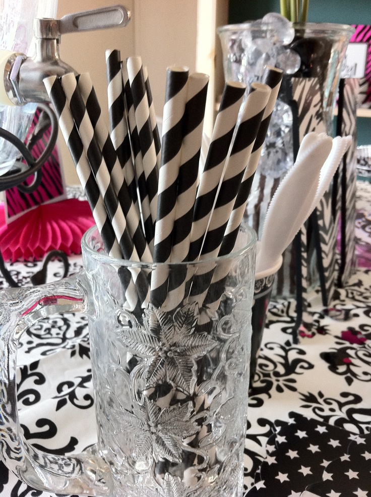 168 best black and white party ideas images on pinterest for Michaels crafts birthday parties