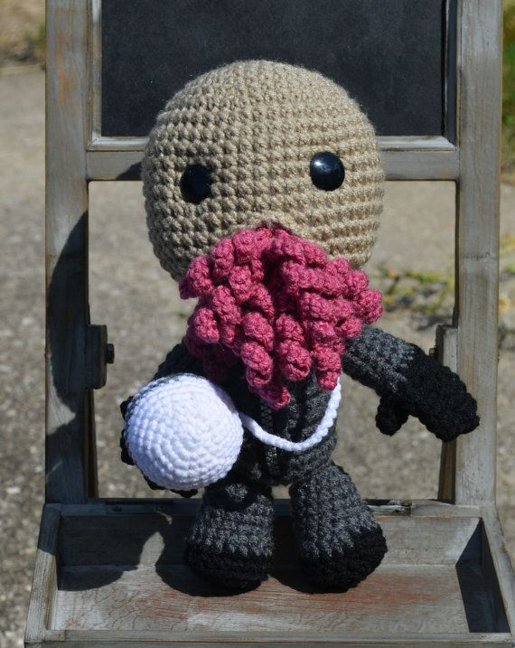 """Ood Doctor Who inspired Sackboy by Vamptropolis on Etsy ~ """"The Ood are one of my favorite beings from the Doctor Who universe. So naturally, I had to make an Ood inspired Sackboy. He even has his brain ball. This little guy would make a perfect gift for any Whovian. He stands about 10.5 inches."""""""