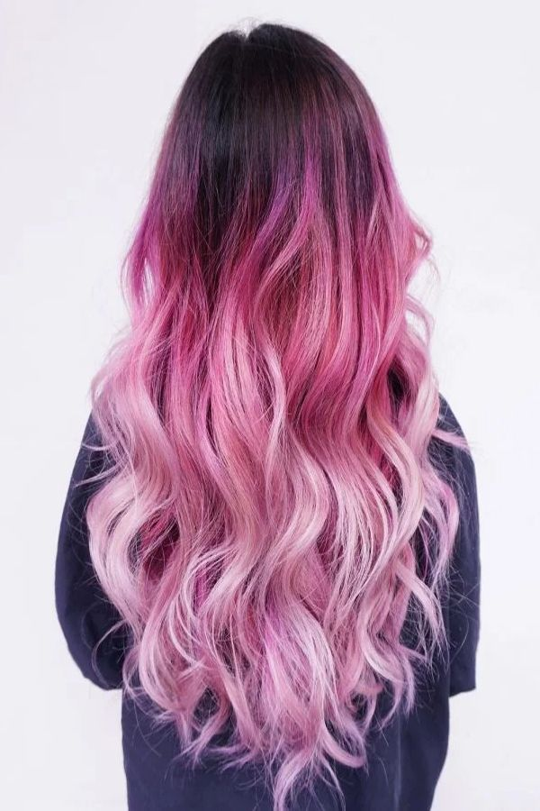 Trendy Long Hairstyles Color Schemes For Women Hair Styles Hair Color Pink Pink Ombre Hair