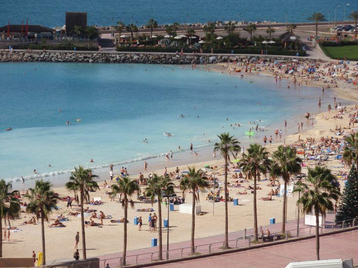 Playa Amadores in Gran Canaria Island- Spain