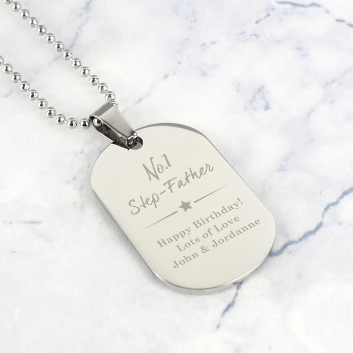 Custom message necklace Father daughter keychain Personalize dog tag key chain Military dog tag necklace Man personalize necklace