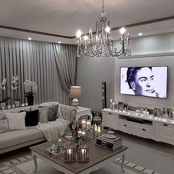 Best 25 elegant living room ideas on pinterest for Glam modern living room