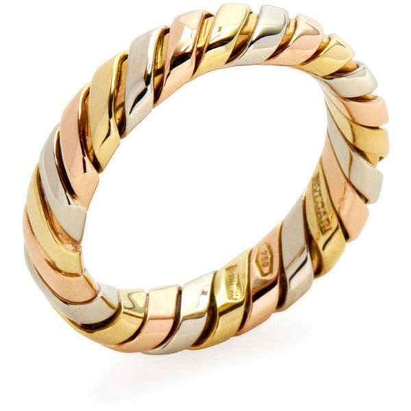bulgari bulgari womenu0027s vintage bulgari 18k tricolor wrap band ring