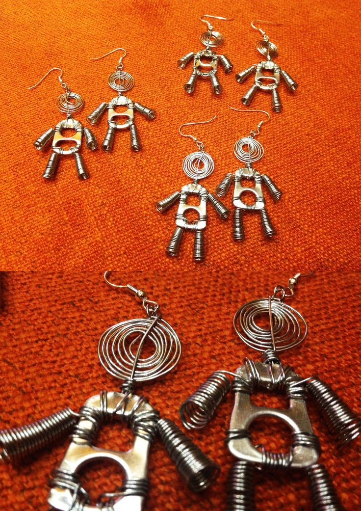 soda tab people earrings: