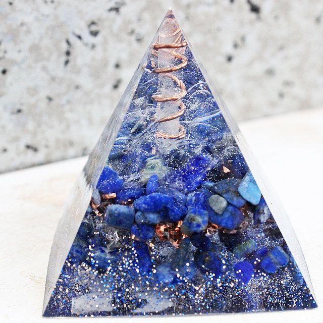 ピラミッド型Ⅱ オルゴナイト ラピスラズリ
