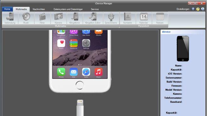 iDevice Manager: Aufs Dateisystem von iOS-Geräten zugreifen©COMPUTER BILD