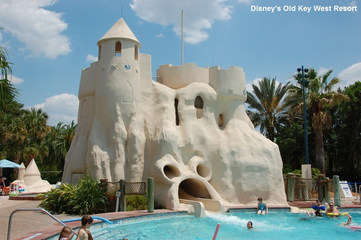 Hidden mickey the swimming pool at disney 39 s old key west - Swimming pools with slides north west ...