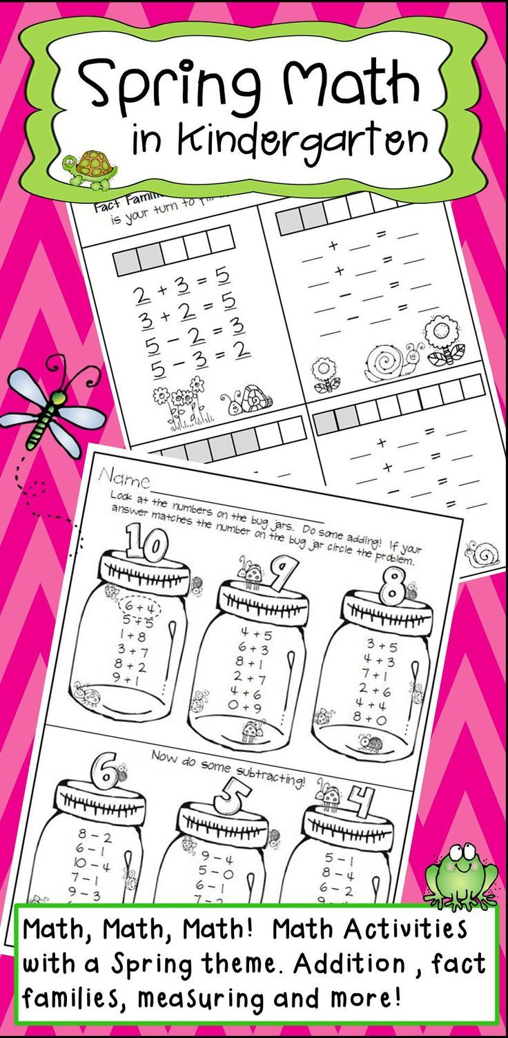 Kindergarten Spring Math Activities   Teacher\'s Helper   Pinterest