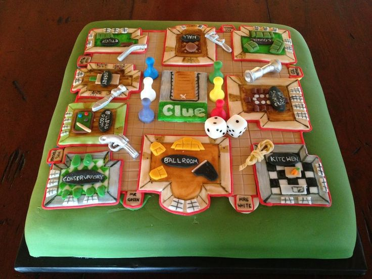 Clue board game. This is cool. Cakes, Cupcakes & Cake