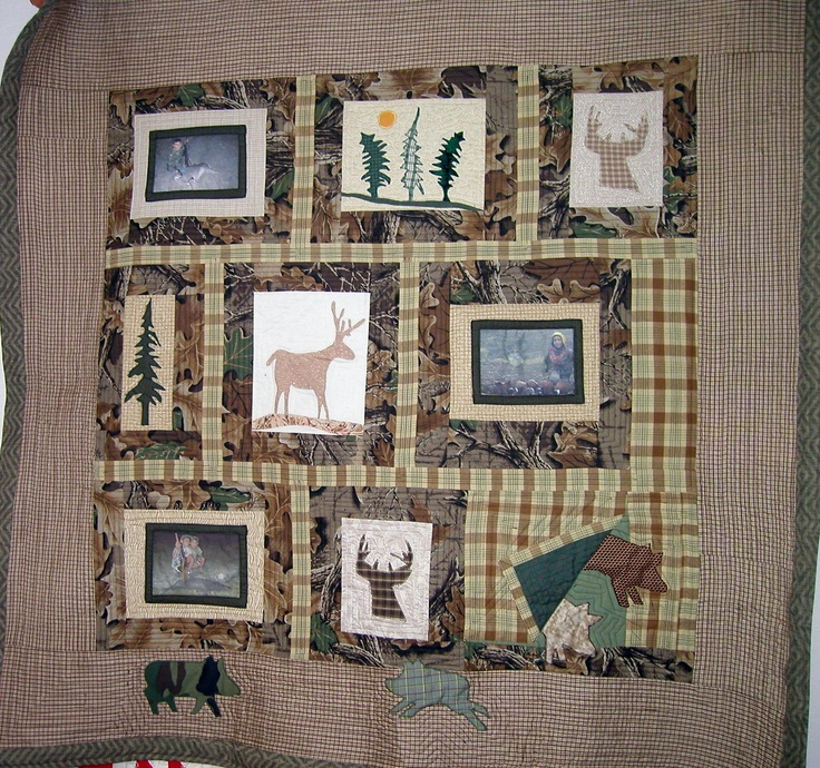 28 best Hunting or man cave quilts images on Pinterest | Man caves ... : hunting quilts - Adamdwight.com