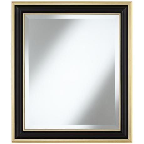 Men S Restroom Matte Black 29 1 4 Quot High Gold Trim Wall