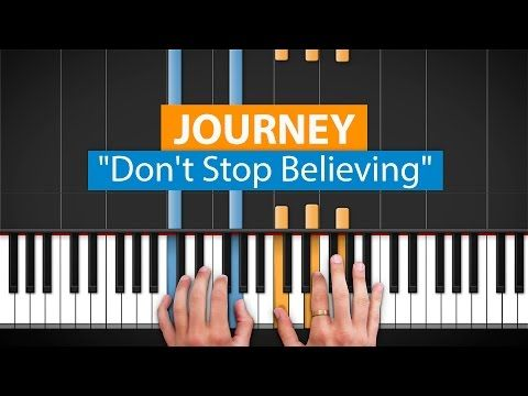"How to Play ""Don't Stop Believing"" by Journey on Piano with Synthesia & HD Piano (Part 1) - YouTube"