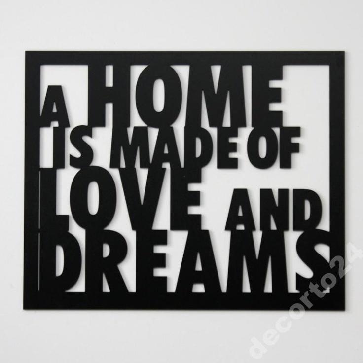 Dekor ścienny A Home... - DECORTIS