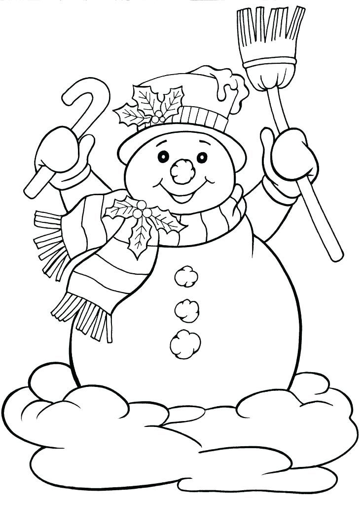 Christmas Frosty Coloring Sheet