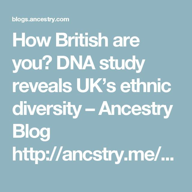 How British are you? DNA study reveals UK's ethnic diversity – Ancestry Blog http://ancstry.me/2eVabCS #AncestryUK #UK #British #BritishHistory #AncestryDNA #DNA #genealogy #ancestry
