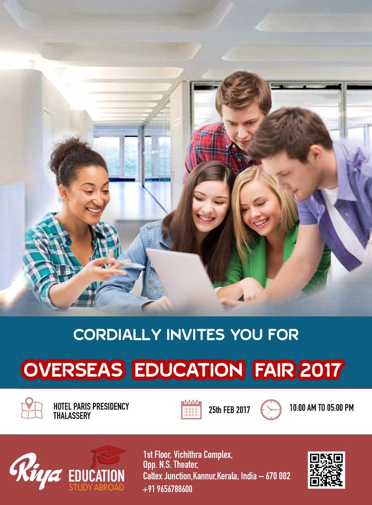 Riya Education cordially invites you for the Overseas Education Fair 2017 on 25th Feb 2017 at Thalassery. Visit our website http://riyaeducation.com/contact/