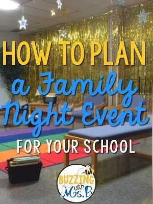 10 Steps to planning a great family night event at your school! Family nights are a fun way to get parents involved on your campus and build a community of learners.
