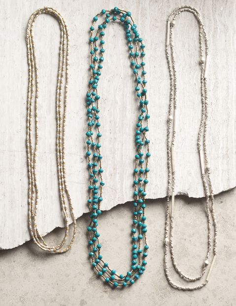The Bethe Rope (on the left) is one of my favorite Noonday necklaces.  It's made from upcycled metal & artillery! Bethe Rope Necklace - Noonday Collection