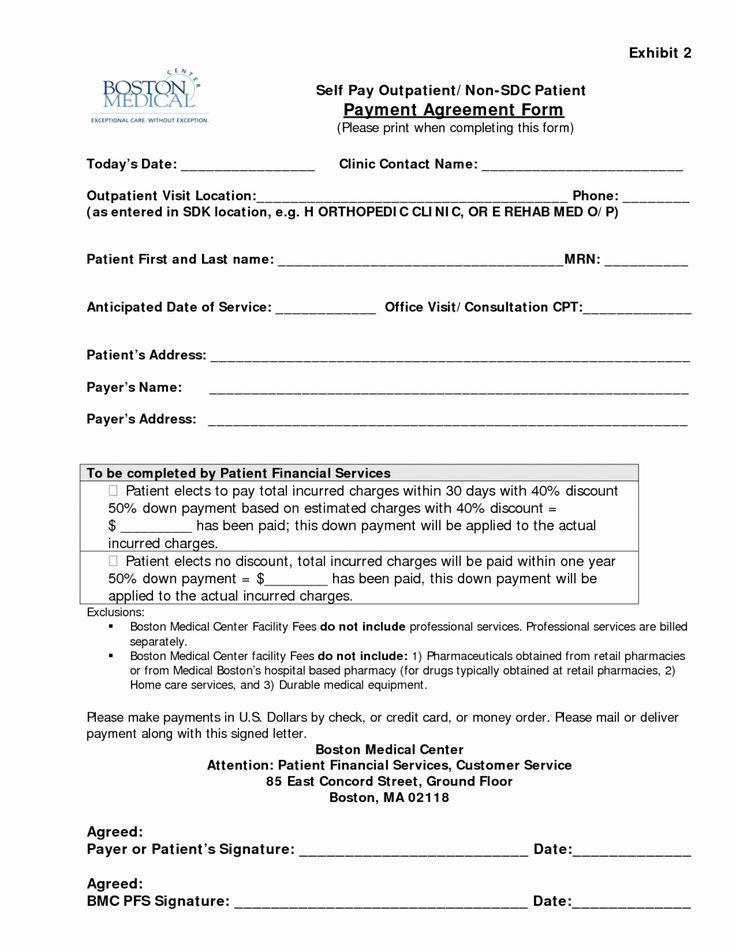 Dental Payment Plan Agreement Template Unique Dental