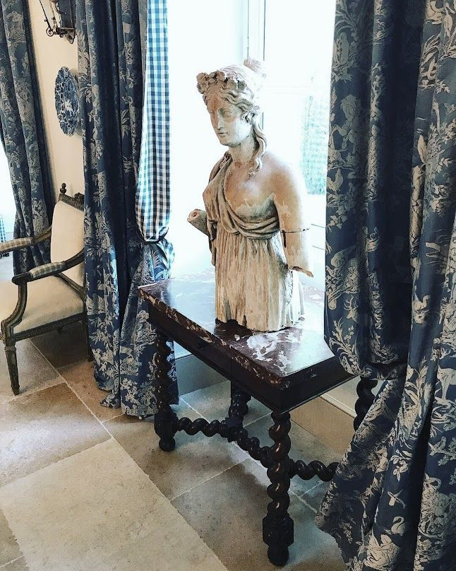 Le Mas des Poiriers, a French Country Provence house, interiors by Susan B. Long. Source - Cote de Texas Blog