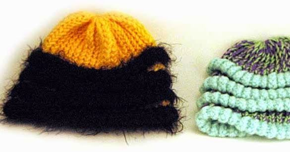 Bee hat pattern for the Knifty Knitter brand looms. (XL)